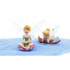 Simulated Flower Fairy Character Model Decoration (6 PCS)