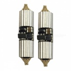 2Pcs Decoding Double Tip 36mm 4W Cold White Car Interior Reading Light