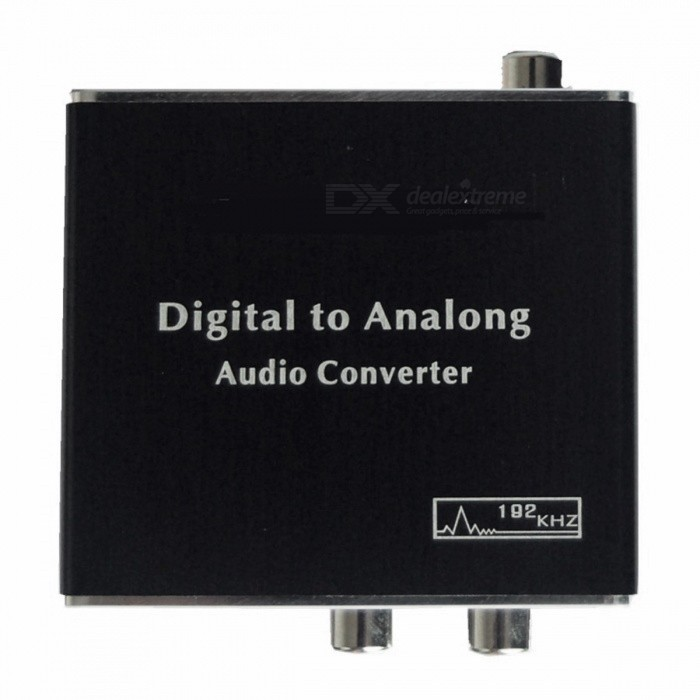Digital Optical Coaxial Toslink Signal to Analog Audio Converter