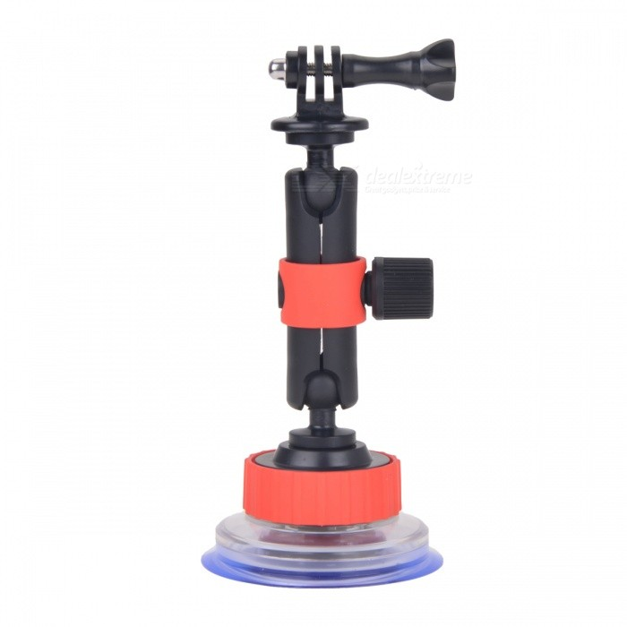 Car Suction Cup Mount Holder for Gopro Hero 5 4 3+ 3 - Black + Red