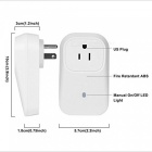 Wi-Fi Smart Phone APP Wireless Remote Control Socket - White
