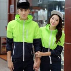 Outdoor Thin Hooded Sun Protection Windbreaker - Fluorescent Green (M)