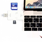 Type-C Multi-function SD TF Three-in-one USB OTG Card Reader - White