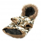 Cute Dog Apparel Pet Camouflage 2-Leg Hole Clothing with Hat - L (Random Style)