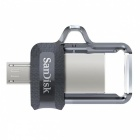 SanDisk SDDD3-016G Ultra USB3.0 16GB Dual Flash Drive - Schwarz