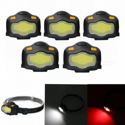ZHISHUNJIA COB White + Red LED Dual Light Glare Headlights (3*AAA)