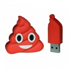 Emoji Pile Of Poo Style USB2.0 8GB Flash Hard Disk - Red