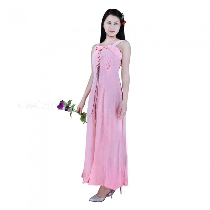Summer Bohemian Sexy Sling Beach Long Kleid - Pink (S)