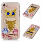 BLCR TPU Owl Pattern Quicksand Phone Back Cover Case for IPHONE 7