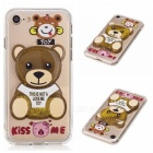 BLCR TPU Little Bear Pattern Quicksand Back Cover Case for IPHONE 7