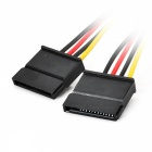 Kitbon 4 Pin IDE Molex till 2 x 15 Pin SATA Power Cable - Svart + Röd