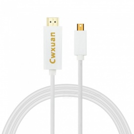 Cwxuan Mini DisplayPort Mini DP to HDMI Adapter Cable - White (300cm)