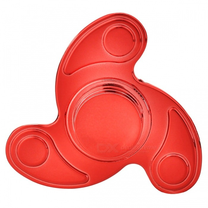 BLCR Tri-Spinner Fidget Toy Hand Spinner for Autism and ADHD - Red
