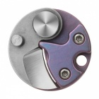 FURA TC4 Titanium Alloy + D2 Tool Steel Coin Knife - Purple