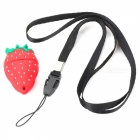 Strawberry Shaped USB 2.0 Flash / Jump Drive w / Neck Strap (64GB)