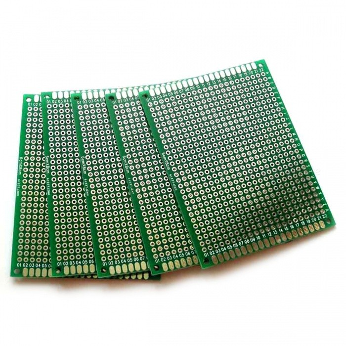 6*8cm Double-Side Prototype PCB Universal Printed Circuit Boards(5PCS)