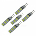 SZFC G4 3W 12V 6-SMD5730 Cold White LED Lamp Bulbs (5 PCS)