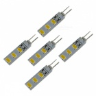 SZFC G4 3W 12V 6-SMD5730 Warm White 3000K LED Lamp Bulbs (5 PCS)