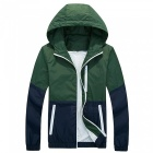 Outdoor Thin Hooded Sun Protection Windbreaker Jacket - Army Green (M)