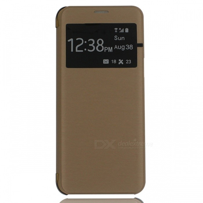 Protective Flip-Open PU Leather + ABS Case for GALAXY S8 Plus - Golden