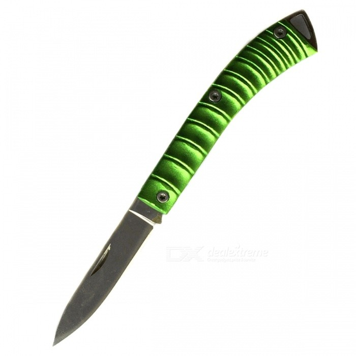 CTSmart Multifunctional Stainless Steel Mini Keychain Knife - Green