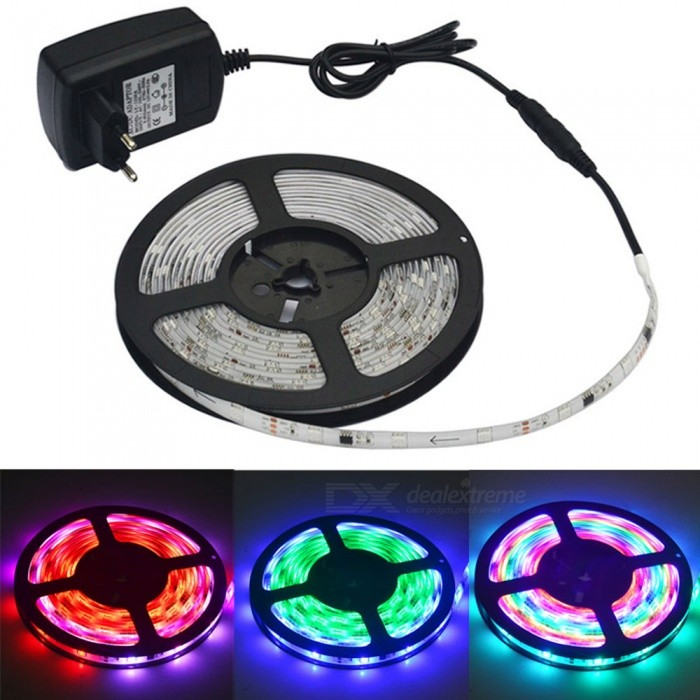 JIAWEN Waterproof Full Color DC12V 5050SMD LED Strip Light (5m / Roll)
