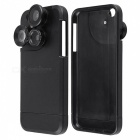 KICCY 4-in-1 Phone Case w/ Camera Lens for IPHONE 6/6S Plus - Black
