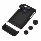 KICCY 4-in-1 Phone Case w/ Camera Lens for IPHONE 7 Plus - Black