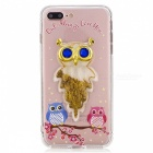 BLCR TPU Owl Pattern Quicksand Phone Back Cover Case for IPHONE 7 Plus