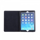 Dayspirit Lichee Pattern Leather Case w/ Stand for IPAD 9.7 - Black