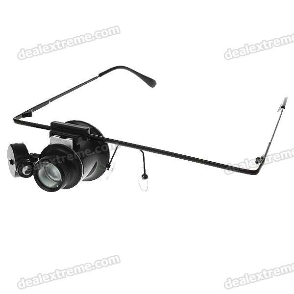 Professional Glasses Type 10X Magnifier with LED Light for Watch Repair (2*CR1620)