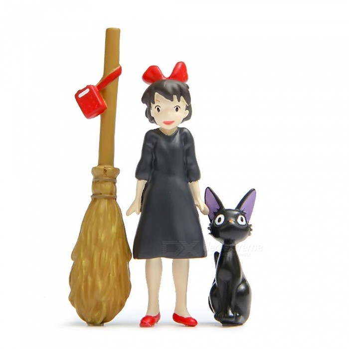 Miyazaki Jun Kikis Delivery Service Cartoon Gardening Dolls (3pcs)Garden Gadgets<br>Form  ColorBlack + MulticolorMaterialResinQuantity3 DX.PCM.Model.AttributeModel.UnitPacking List3 x Dolls<br>