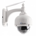 2,8 ~ 12 mm Zoom optique Zoom avant miniature basse Luxe IR Night Vision Pan / Tilt Rotation, 2.0MP, LED 22-IR - Blanc