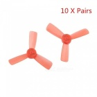 10 Pairs KINGKONG 1935 Propellers 3-Blade Props for Q90 90GT FPV Drone