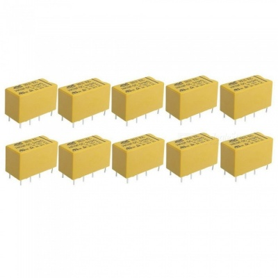HK19F DC 5V Coil DPDT 8 Pin PCB General Purpose Power Relays (10 PCS)