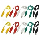 35cm Electrical DIY Double-end Alligator Clips for Test (10Pcs)