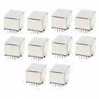 Computer LAN CA6 Cable 8P8C RJ45 Female Connectors (10Pcs)
