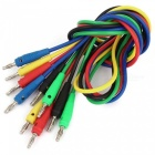 Multimeter 4 mm Banana Probe Testkablar - Multicolor (1m / 5Pcs)