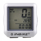 INBIKE 14-Function Bike Odometer Speedmeter w/ Green Backlit - Silver