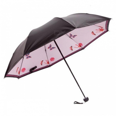 E-SMART Ultraviolet-proof Folding Pocket Sun Umbrella - Light Pink