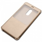 Xiaomi Flip PU Cover Case for Xiaomi Redmi Note 4X (3GB+32GB) - Golden