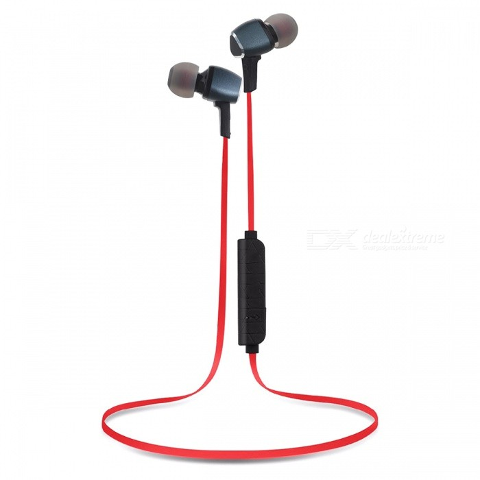 Wireless Bluetooth Stereo Headphone w/ Magnetic Design - Red