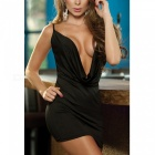 Pyjamas sexy Deep V Neck Backless Body Sexy Underwear - Noir