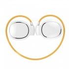 Mini Level Touch Screen Noise Canceling Sport Headphone w/ Mic - White