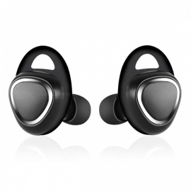 Mini Bluetooth Wireless In-Ear Earbuds for Mobile Phone - Black