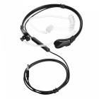 Cwxuan 3.5mm Anti Radiation Duct Earphone w/ Mic + Smart Button- Black