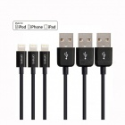 Omars MFi 3ft Lightning 8-pin to USB Sync Charging Cables (3PCS)