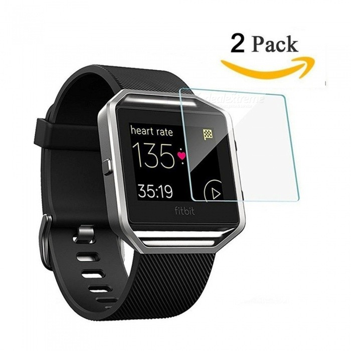 Premium HD Clear Tempered Glass Screen Protector Film for Fitbit Blaze