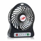 Outdoor Mini Multifunction Portable USB Rechargeable Fan w/ LED Light