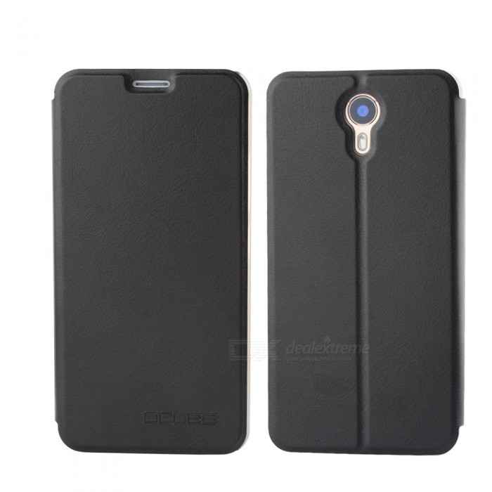 OCUBE PU Leather Flip-open Case for Ulefone Power II - Black
